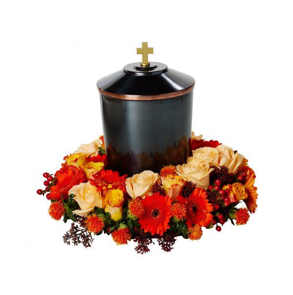 Urndekoration Solnedgång och urna