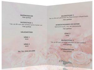 Exempel program borgerlig begravning en ceremoni i musikens tecken 1