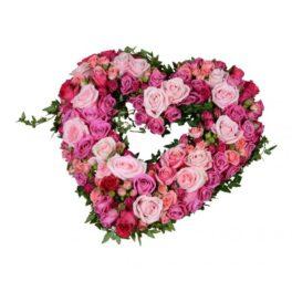 Hjärta blandade rosor