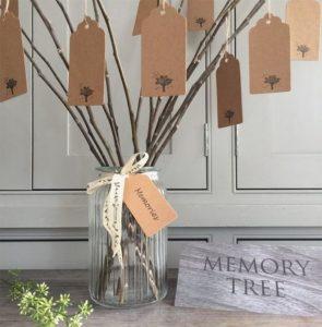 Personlig begravning minnesträd Lavendla