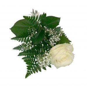 begravningsblommor, handbukettvit2b