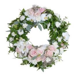 emoria begravningskrans begravningsblommor lavendla