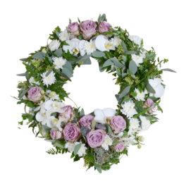 diosa begravningskrans begravningsblommor lavendla