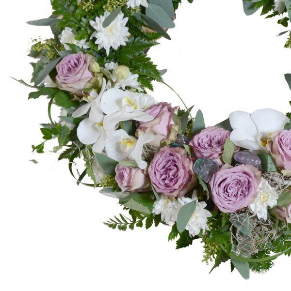 diosa1 begravningskrans begravningsblommor lavendla