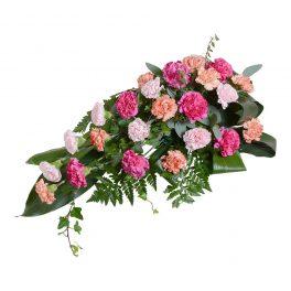 lobus sorgdekoration begravningsblommor lavendla