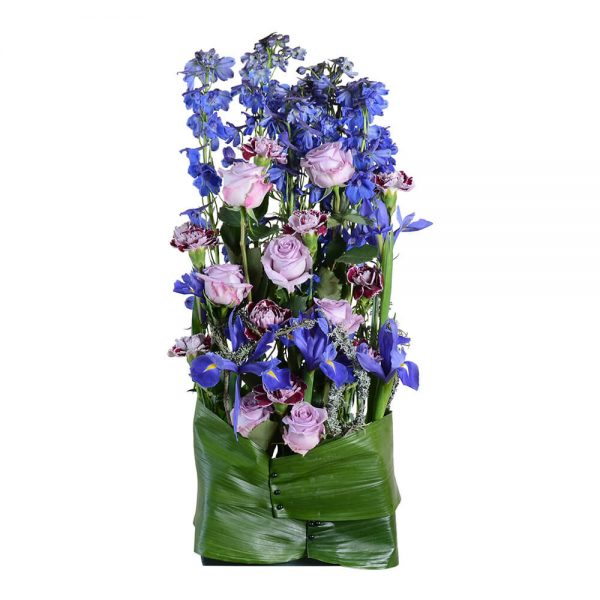 alvara sorgdekoration begravningsblommor lavendla