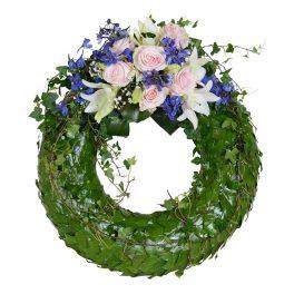 cera begravningskrans begravningsblommor lavendla