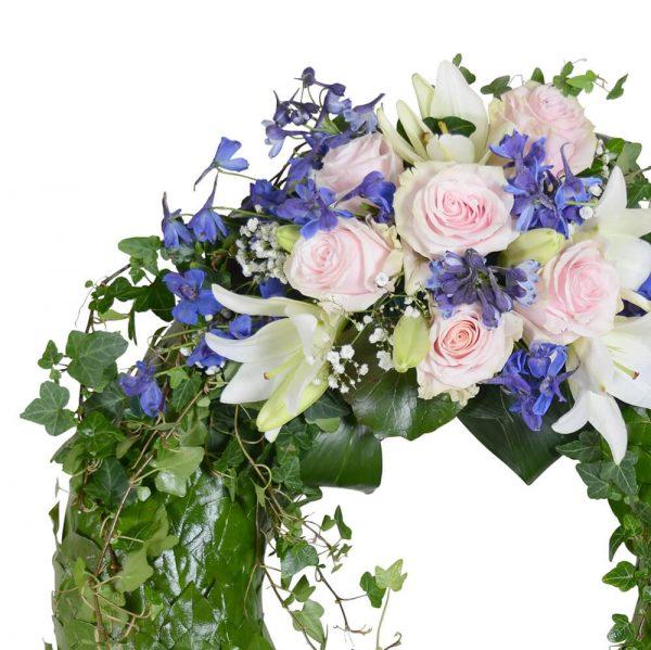 cera1 begravningskrans begravningsblommor lavendla