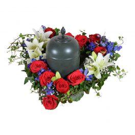 apera urndekoration begravningsblommor lavendla