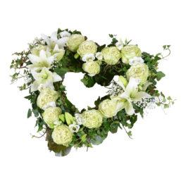 bifolius begravningsblommor hjärta lavendla