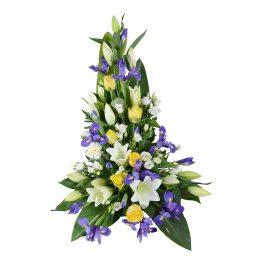 hispa sorgdekoration begravningsblommor lavendla