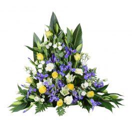 hepta sorgdekoration begravningsblommor lavendla