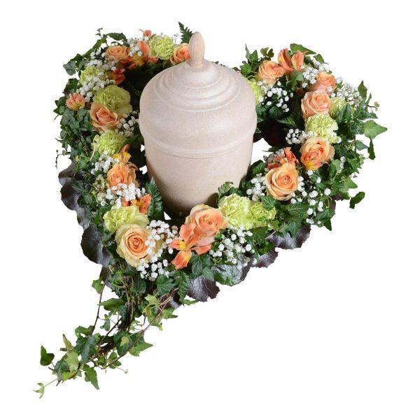 Anguis urndekoration begravningsblommor lavendla