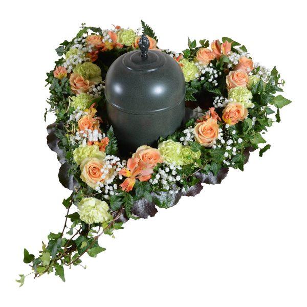Anguis2 urndekoration begravningsblommor lavendla