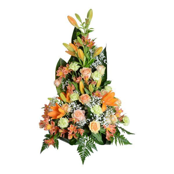 iberis sorgdekoration begravningsblommor lavendla