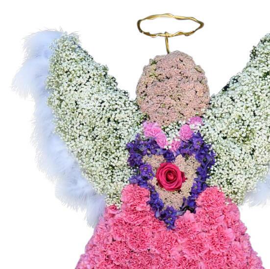 rosa angel2 begravningsblommor lavendla