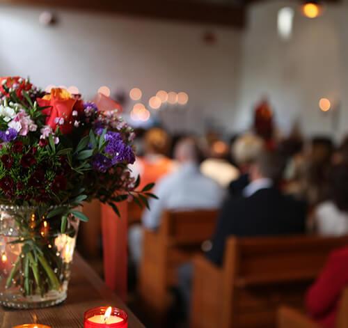 livesänd begravning