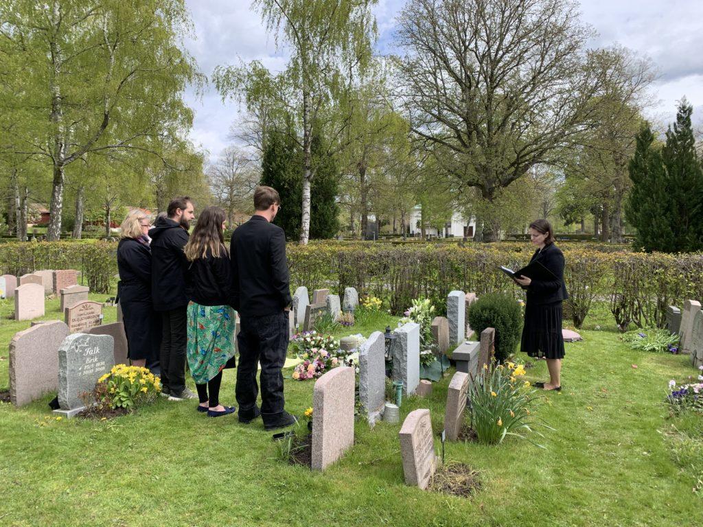 begravning utomhus