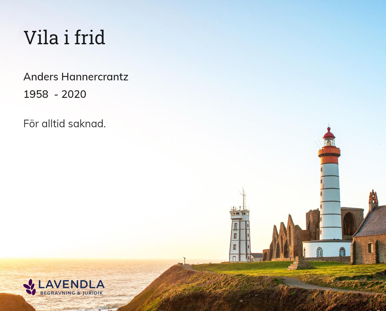 Inbjudningskort till ceremonin för Anders Hannercrantz